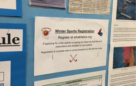 Don't forget to sign up for your winter sport. The sports range from Basketball to Indoor track to becoming a Cheerleader and many more. If you wish to participate and compete with and against fellow students, make sure to make it out for the tryouts.