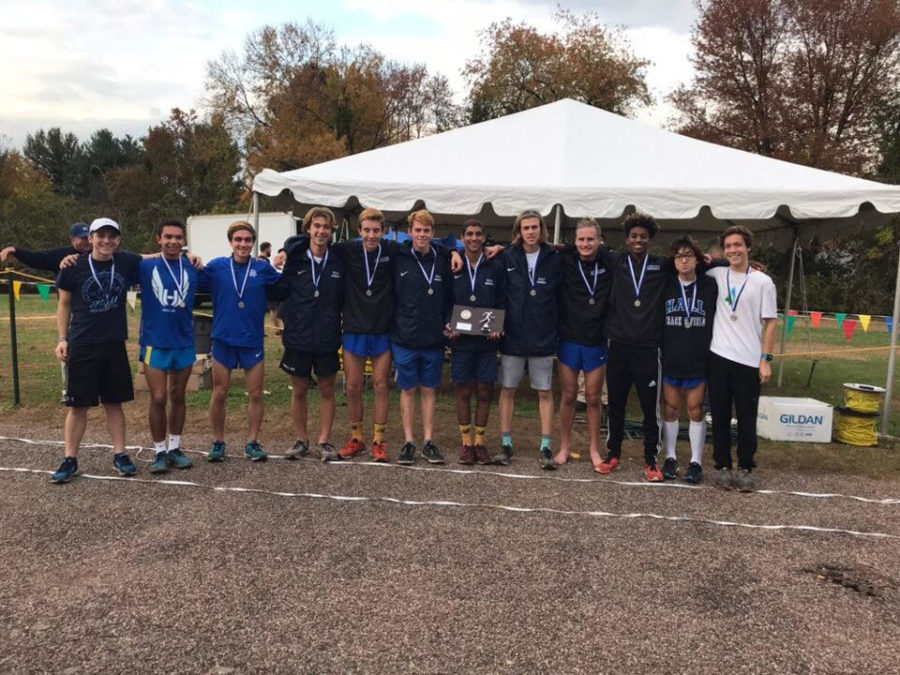Hall+Boys+Cross+Country+after+getting+2nd+place+at+State+Opens.+Josh+Fernandes%2C+the+5th+man%2C+was+the+hero+of+the+race.+Hall%27s+coach+Jeff+Billing+commented+that+%22despite+not+having+run+a+good+race+all+season%2C+he+%28Josh+Fernandes%29+gave+the+team+everything+he+had+today%2C+and+with+his+performance+vaulted+us+from+4th+place+%28which+Hall+has+finished+multiple+times%29%2C+to+2nd+place+-+the+best+finish+in+school+history+and+our+first+trip+to+the+%27stage%27+at+the+awards+ceremony.%22