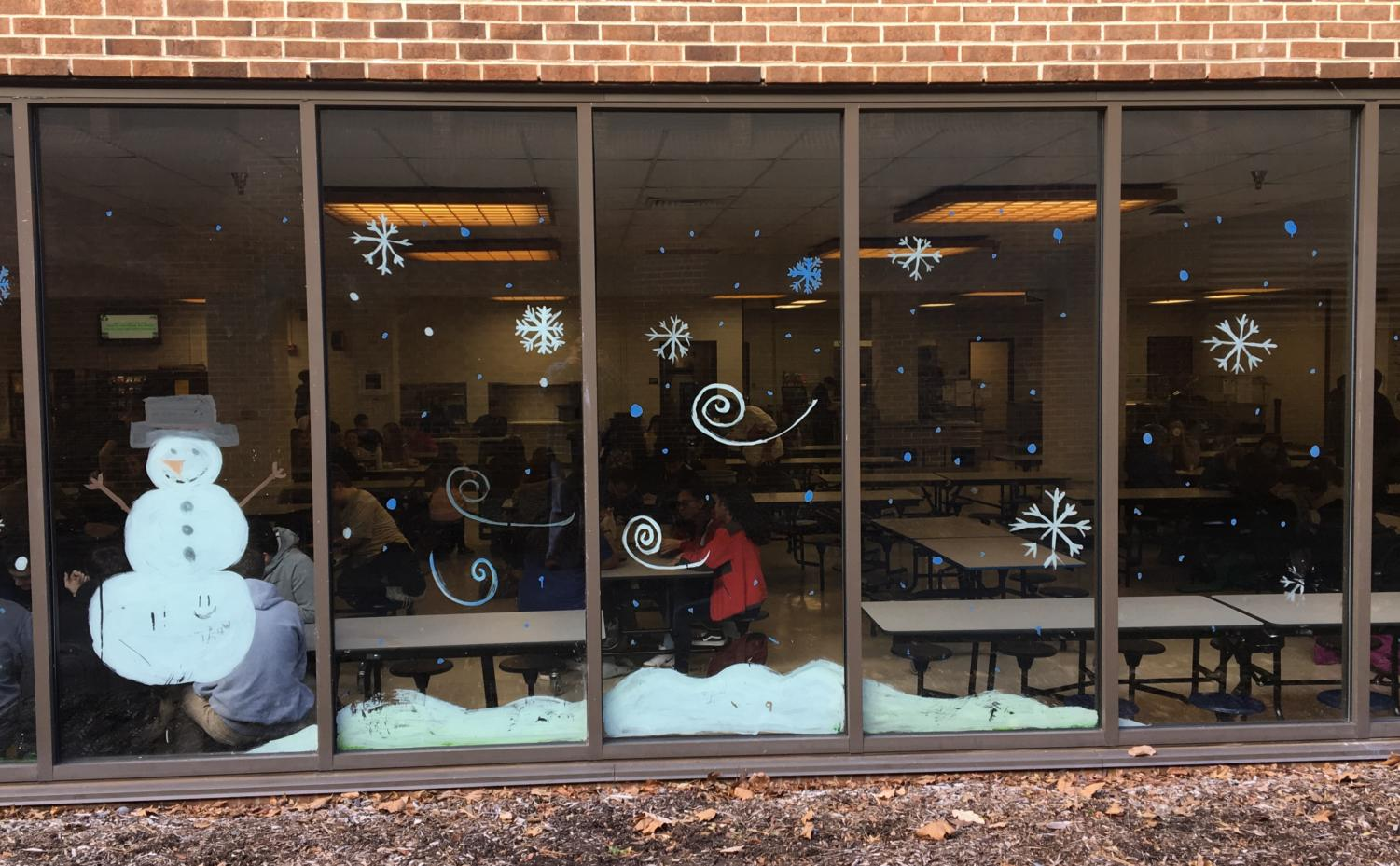 Holiday Decorations at Hall High School