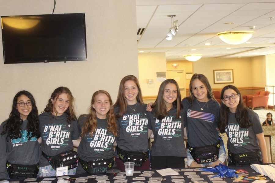 The girls of the 60th Regional board from BBYO's Connecticut Valley Region welcome members of the region to the new programming year.