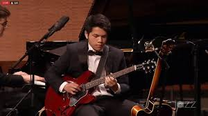 This is Brennen Ravenberg at Essentially Ellington.  In this picture he is taking a solo on Duke Ellington's Chinoiserie.
