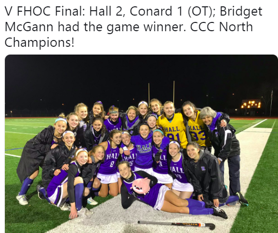 Field Hockey Claims CCC North Again