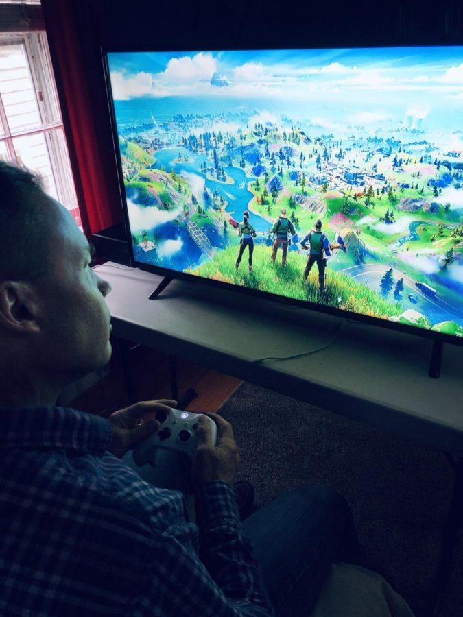 John Monnes loading into a game of Fortnite Battle Royale