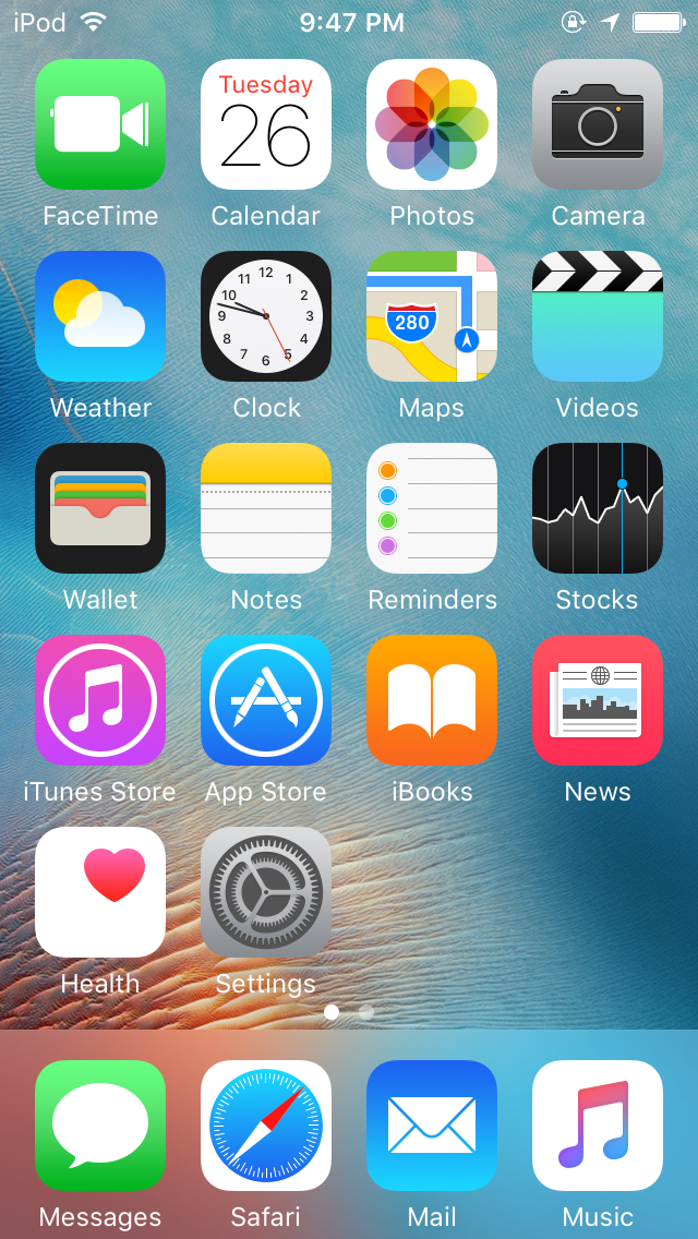 Screenshot of iPhone