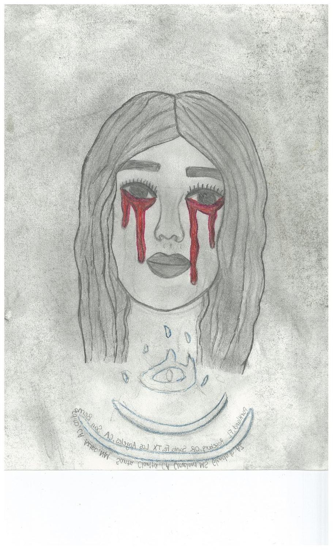 Girl crying over school shootings
