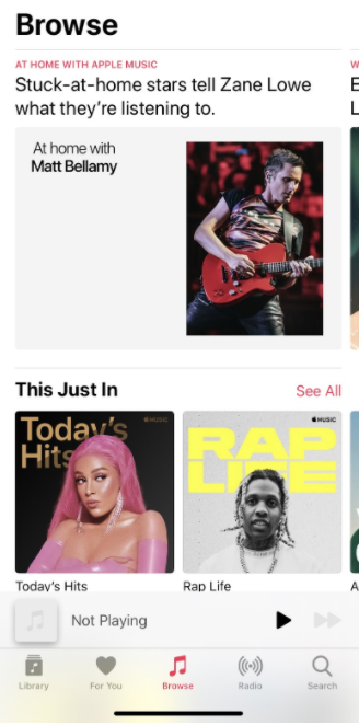 A look at one of the features of the Apple Music app