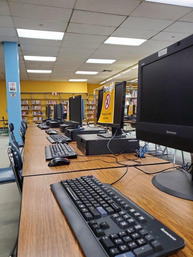 Half the computers are unusable due to COVID