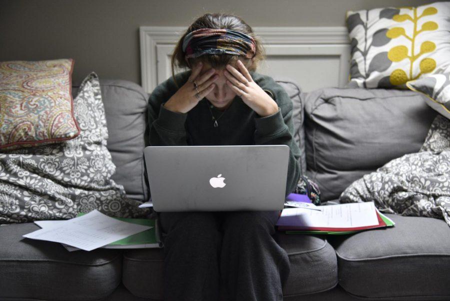Overwhelmed teen