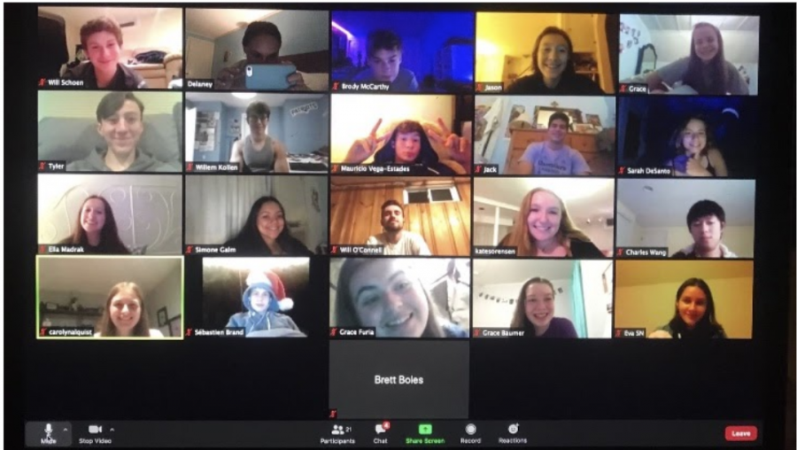 Hall High School Choraliers is a class at Hall that has been meeting virtually.